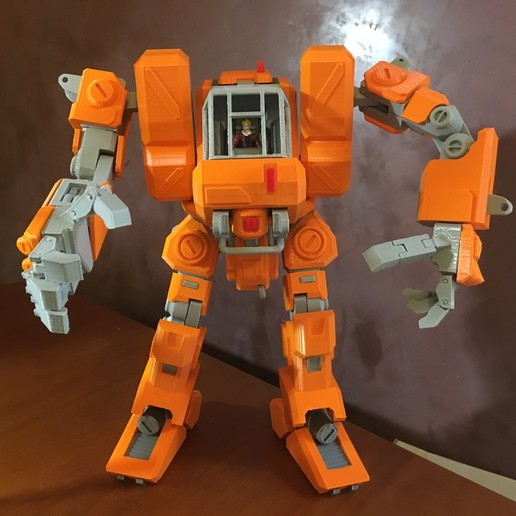 Download free STL files Heavy Construction Walker (Action Figure), Jwoong