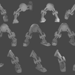 Download 3D printer designs Bionic Legs Pack 1, TexMakes