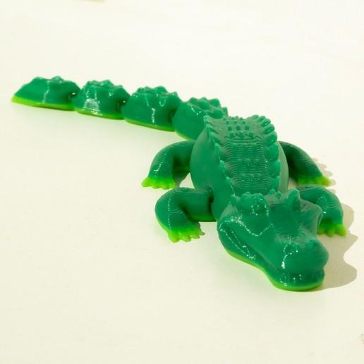 solo.jpg Download STL file Happy Crocodile Print-in-place • 3D printer model, smartmendez