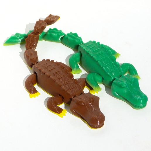 pareja.jpg Download STL file Happy Crocodile Print-in-place • 3D printer model, smartmendez