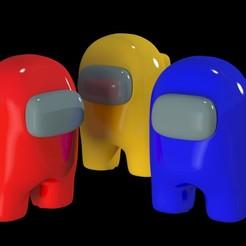 amongus0.jpg Download STL file Among Us Character • 3D printer template, smartmendez
