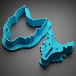 Descargar modelos 3D Lobo cortador de galletas, Patito_Metalero