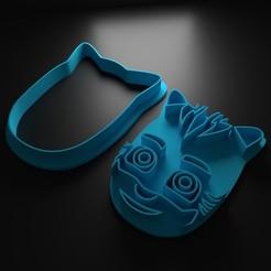 cabeza 2.jpg Télécharger fichier STL Combatteuse pour coupe-biscuits • Modèle pour imprimante 3D, Patito_Metalero