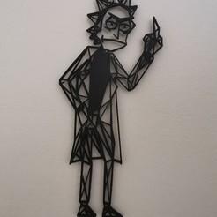 IMG_20200601_191528.jpg Télécharger fichier STL gratuit Art mural de Rick Sanchez • Design imprimable en 3D, Awesome3D