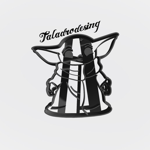 Download free STL file Baby yoda Mandalorian - Cookie cutter • 3D printing design, Taladrodesing