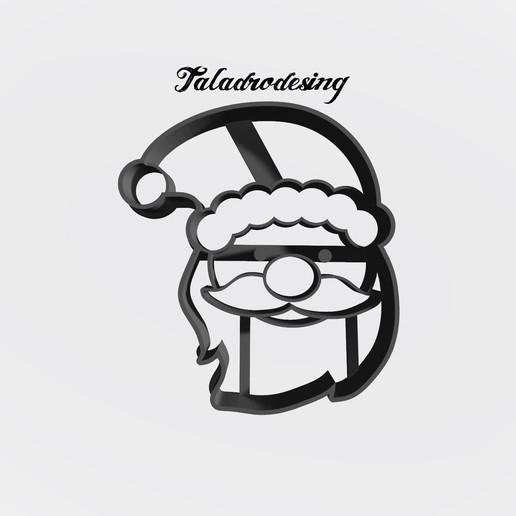 Download free STL files Santa Claus - Santa Claus / Cookie cutter - Cookie cutter, Taladrodesing