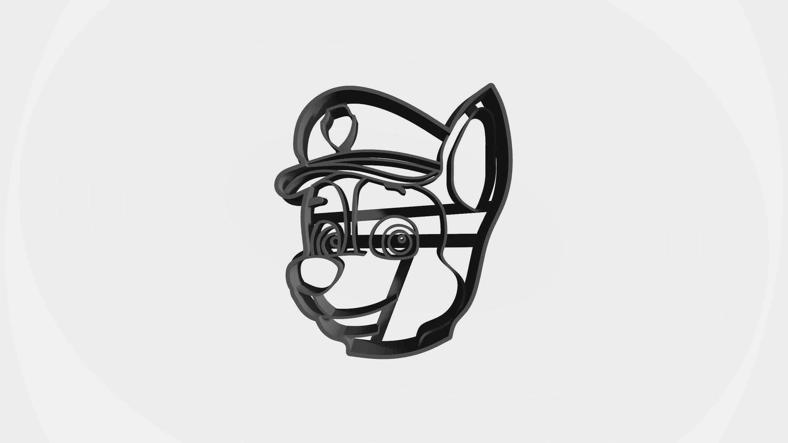 Chase.jpg Télécharger fichier STL gratuit Pack patrouille de patrouilles x 5 + logo - Coupe-cookie • Design imprimable en 3D, Taladrodesing