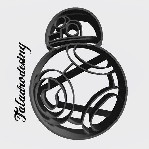 arturito naranja copy.jpg Download free STL file Arturito Orange - BB-8 - Cookie cutter • 3D printing model, Taladrodesing