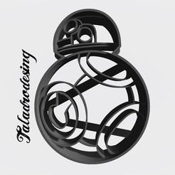 Imprimir en 3D gratis Arturito Naranja - BB-8 - Cookie cutter/Cortante de galletita, Taladrodesing