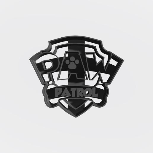logo paw Patrol.jpg Télécharger fichier STL gratuit Pack patrouille de patrouilles x 5 + logo - Coupe-cookie • Design imprimable en 3D, Taladrodesing