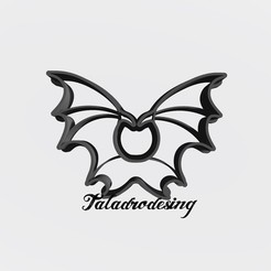 Download free STL files Alas Malefica - wings Maleficien / cookie cutter - Cookie Cutter, Taladrodesing