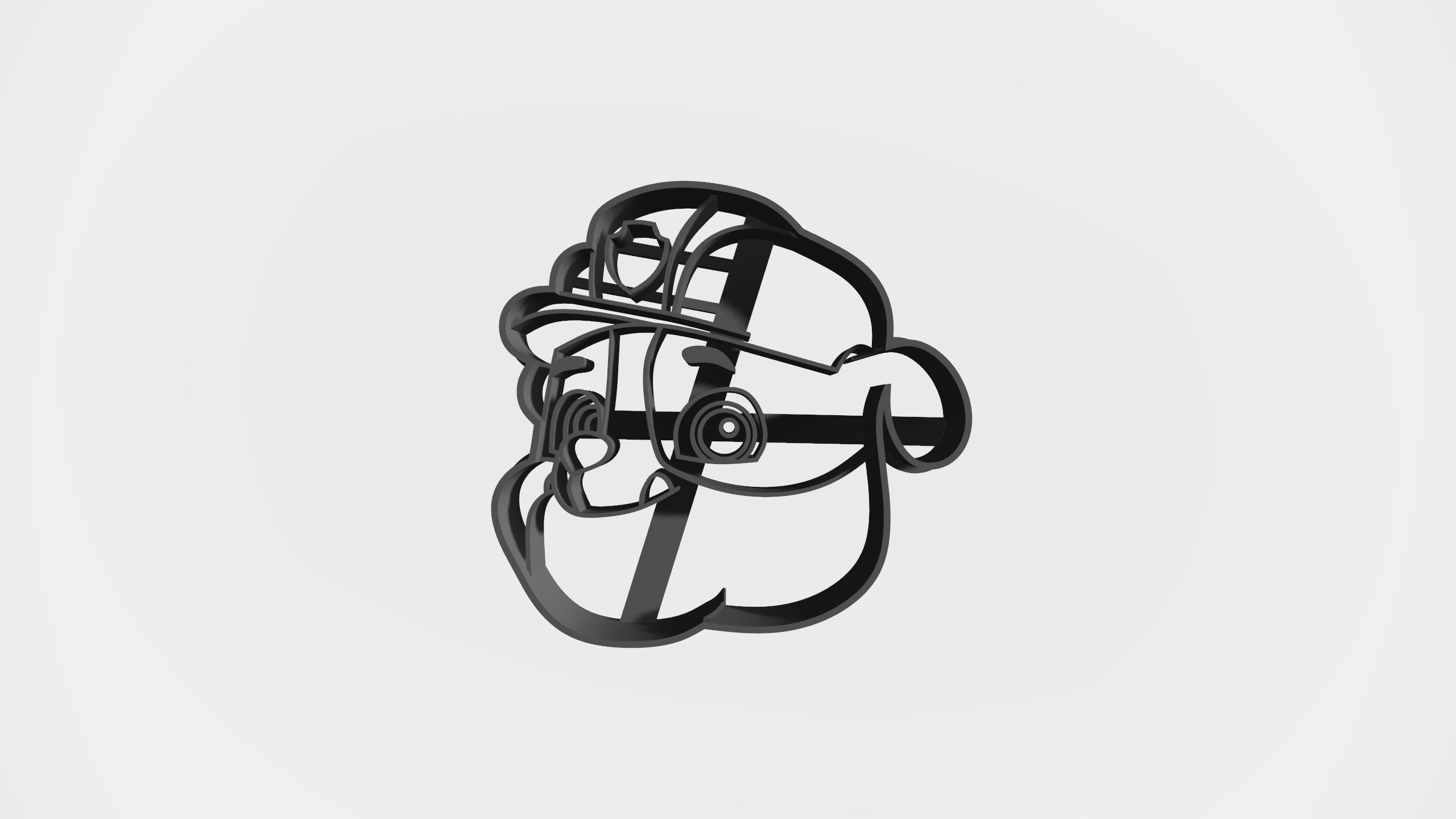 Rubble.jpg Télécharger fichier STL gratuit Pack patrouille de patrouilles x 5 + logo - Coupe-cookie • Design imprimable en 3D, Taladrodesing