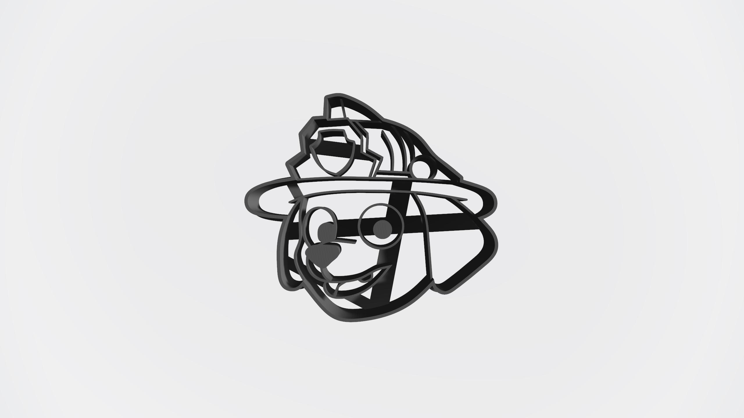 Marshall.jpg Télécharger fichier STL gratuit Pack patrouille de patrouilles x 5 + logo - Coupe-cookie • Design imprimable en 3D, Taladrodesing