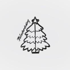 Télécharger modèle 3D gratuit Arbre de Noël - Arbre de Noël / emporte-pièce - Emporte-pièce, Taladrodesing