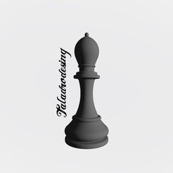 Imprimir en 3D gratis Bishop Chezz - Alfil Ajedrez Nº5, Taladrodesing