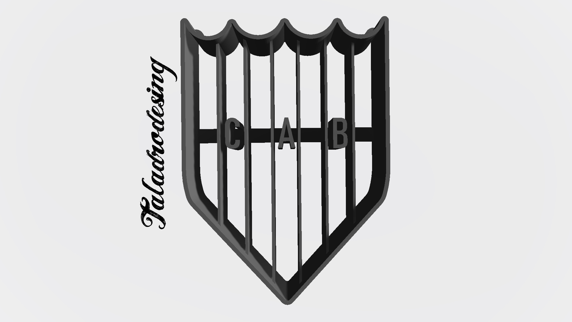 Escudo banfield copy.jpg Download free STL file Banfield Argentina Shield - Cookie Cutter • Design to 3D print, Taladrodesing