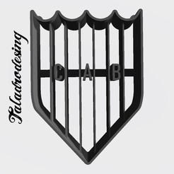 Download free 3D printer templates Banfield Argentina Shield - Cookie Cutter, Taladrodesing