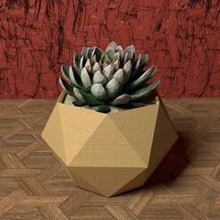 hexagon vase.jpg Download STL file GEOMETRIC HEXAGON VASE   • Model to 3D print, BUGA