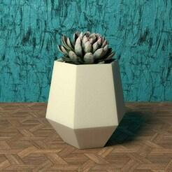 hexagon vase (smooth tall version).jpg Download STL file GEOMETRIC HEXAGON VASE (SMOOTH TALL VERSION) • 3D printing model, BUGA
