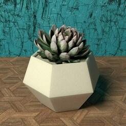 hexagon vase (smooth version).jpg Download STL file GEOMETRIC HEXAGON VASE (SMOOTH VERSION) • Design to 3D print, BUGA