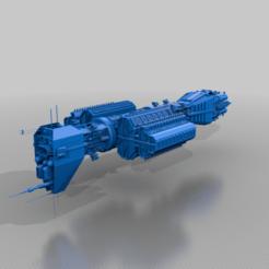 Imprimir en 3D gratis Destructor de la Clase Omega, BadHaircut