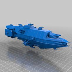 Equador.png Télécharger fichier STL gratuit EA - Croiseur lourd de la classe Equador • Design à imprimer en 3D, BadHaircut