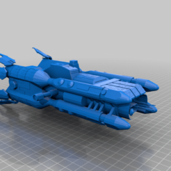 olympus_v4.png Download free STL file Olympus Class Corvette • 3D printer template, BadHaircut