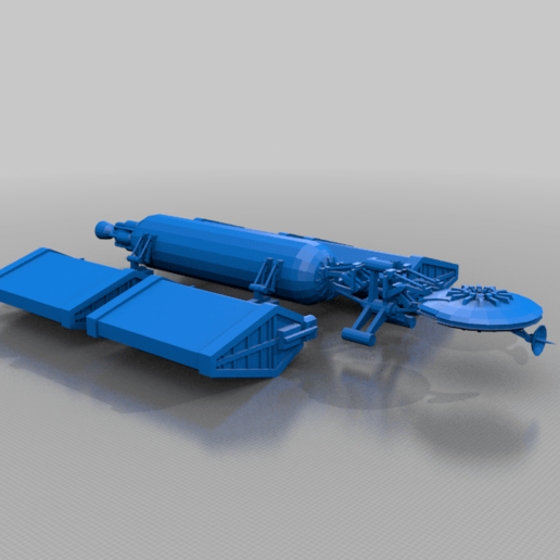 Saturn_c4.png Download free STL file Saturn 4 Civilian Transport • 3D printable template, BadHaircut