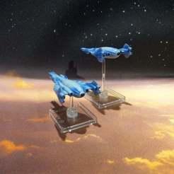 Download free 3D printing designs Minbari Shadow War Era Proto Fighter V2, BadHaircut