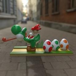 Descargar archivo 3D Baby mario y Yoshi, garudagr