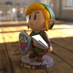 Link_00.jpg Download STL file Link  (the legend of zelda) • Model to 3D print, garudagr
