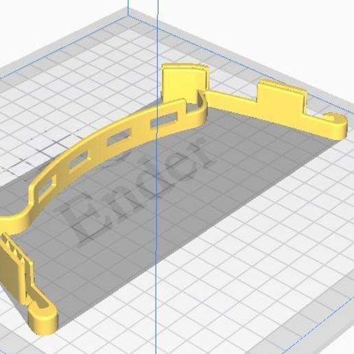 Download free STL files crocodile visor, laurent85v