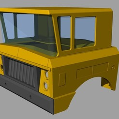 Download 3D printer templates Rico Sanson truck cabin, rcnele