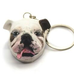 DSC_0461.jpg Télécharger fichier STL Porte-clés Bulldog • Objet imprimable en 3D, Artifice3D
