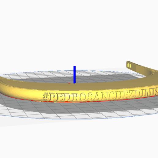 Download free STL Pedro Sánchez protection visor, desmojorge