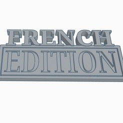 FRENCH EDITION.jpg Download STL file FRENCH EDITION Vehicle Badge • Design to 3D print, joe_lepack