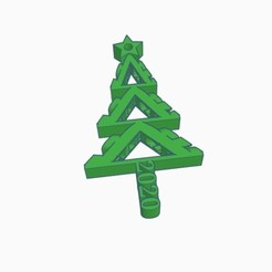 FUCK 2020 Tree pic 1.jpg Download STL file FUCK 2020 Christmas Tree Ornament • Object to 3D print, joe_lepack