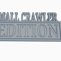 MALLCRAWLER EDITION.jpg Download STL file MALLCRAWLER EDITION Vehicle Badge • 3D printable template, joe_lepack