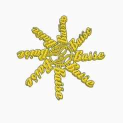 Baise 2020 Christmas Ornament Pic 1.jpg Télécharger fichier STL Décoration de Noël française Baise 2020 • Plan imprimable en 3D, Simple_Designs