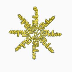 FICKEN 2020 German Ornament Pic 1.jpg Télécharger fichier STL Poulet allemand ornement de Noël 2020 • Modèle à imprimer en 3D, Simple_Designs