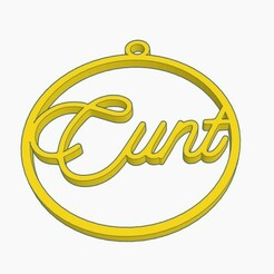 cunt ball.jpg Download STL file Cunt Christmas Ornament • 3D printing template, Simple_Designs