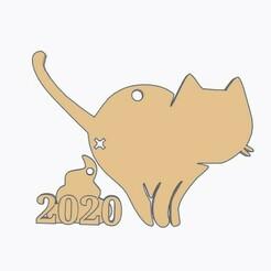 Cat Shitting Christmas Ornament.jpg Télécharger fichier STL Chat qui chie ornement de Noël • Modèle pour impression 3D, Simple_Designs