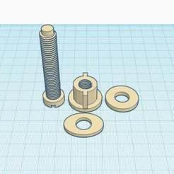 toilet_set_bolt_set.jpg Download STL file Toiler Seat Bolt Set • 3D printing object, Simple_Designs