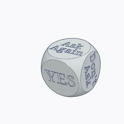 Magic 8 ball dice pic 1.jpg Download STL file Magic 8 Ball Dice 6 sided • Model to 3D print, Simple_Designs