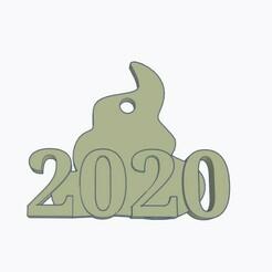 dog shit 2020 Christmas Ornament.jpg Télécharger fichier STL Décoration de Noël en forme de merde de chien • Modèle pour imprimante 3D, Simple_Designs