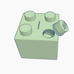Lego Coin Bank Pic 2.jpg Télécharger fichier STL Tirelire Lego • Design à imprimer en 3D, Simple_Designs