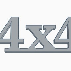 4x4 Emblem.jpg Download STL file 4x4 Emblem • 3D print template, joe_lepack
