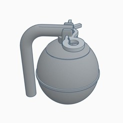 Hand Grenade Coin Bank Pic 1.jpg Télécharger fichier STL Banque de pièces de monnaie pour les grenades à main • Objet à imprimer en 3D, Simple_Designs