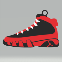 captura de pantalla.png Download STL file Jordan Shoes Keychain • 3D printer object, 3Leones