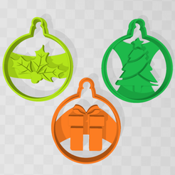 Bolas Navideñas.png Download STL file Christmas Ball Cutters • 3D printer template, 3Leones